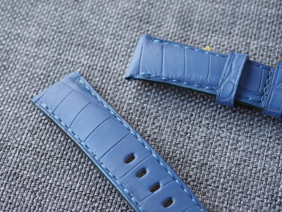 22mm Lavender Alligator Strap-Ready to ship